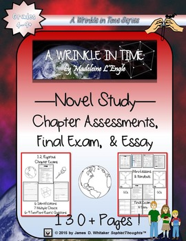 A Wrinkle in Time by Madeleine L'Engle Novel Study Chapter Assessments