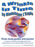 A Wrinkle in Time vocabulary and comprehension assessment packet