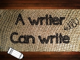 Work on Writing   Burlap and Shabby Chic posters