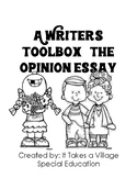 A Writer's Toolbox: writing an opinion paper
