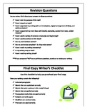 A Writer's Checklist for Middle School