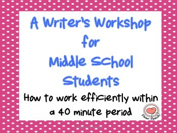 A Writer's Workshop in 40 minutes for Middle School Students