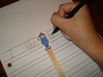 A Writing Helper Freebie {Space Men!}