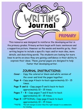 A Writing Journal that Grows with the Writer