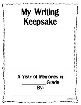 A Writing Keepsake and Progress Monitor (By the Month)
