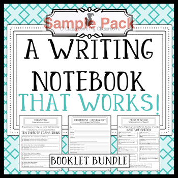A Writing Notebook That Works! *Common Core Aligned! FREE Sample Pack