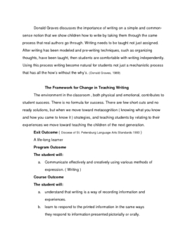 A Writing Program and Resource