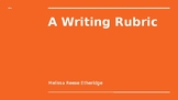 A Writing Rubric