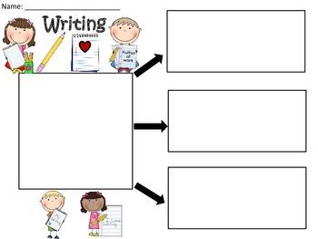 A+  Writing ... Three Graphic Organizers