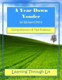 A YEAR DOWN YONDER by Richard Peck  * Comprehension & Text Evidence