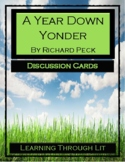A YEAR DOWN YONDER by Richard Peck - Discussion Cards