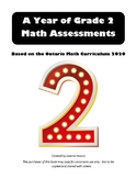 A YEAR OF GRADE 2 MATH ASSESSMENTS DIGITAL FILE Revised With Answers
