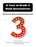 A YEAR OF GRADE 3 MATH ASSESSMENTS WITH ANSWERS DIGITAL FILE