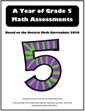 A YEAR OF GRADE 5 ASSESSMENTS with answers