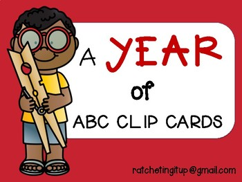 A YEAR of ABC Clip Cards Plus BONUS ABC Matching Cards