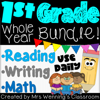 A YEAR of Literacy and Math in 1st Grade Mega Bundle!