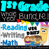 First Grade Language Arts & Math WHOLE YEAR Mega Bundle!
