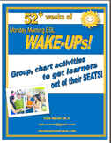 A YEAR of Monday Morning Wake-Ups! Group, Chart-Based Activities