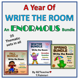 A YEAR of WRITE the ROOM - 25 SEASONAL sets of SIGHT WORDS