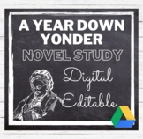 A Year Down Yonder Novel Study Common Core Aligned