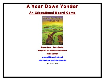 A Year Down Yonder Board Game