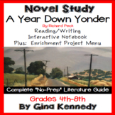 A Year Down Yonder Novel Study + Project Menu