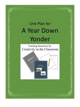 A Year Down Yonder Novel Unit Plus Grammar