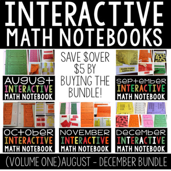 A  Year Full of Interactive Math Notebooks Vol 1 (August- December)
