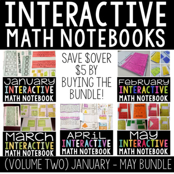 A Year Full of Interactive Math Notebooks Vol 2 (January- May)