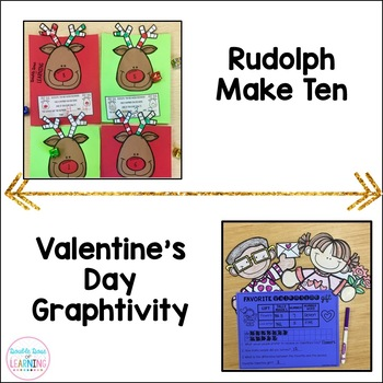 A Year-Long Bundle of HOLIDAY Math Craftivities for First Grade!