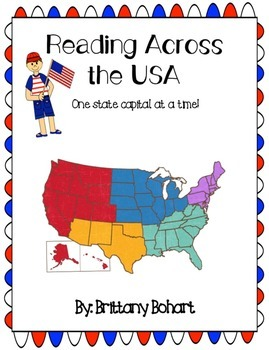 A Year Long Reading Log: Reading Across the USA (One State