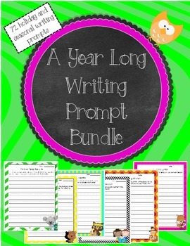 A Year Long Writing Prompt Bundle