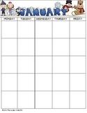 A Year Of Blank Calendars