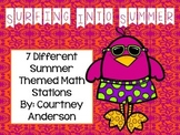 A Year in Review Summer Themed Math Stations