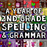 A Year of 2nd Grade Spelling/Grammar - 35 Weeks with Daily Practice Bundle
