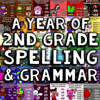 A Year of 2nd Grade Spelling/Grammar - 35 Weeks with Daily