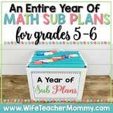 A Year of Emergency Substitute Plans for 5th & 6th Grade Math Bundle