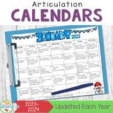 Articulation Calendars