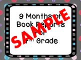 A Year of Book Reports for 4th Grade