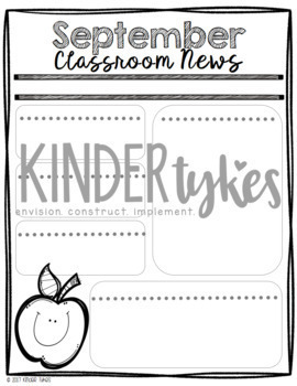 A Year of Classroom Newsletters