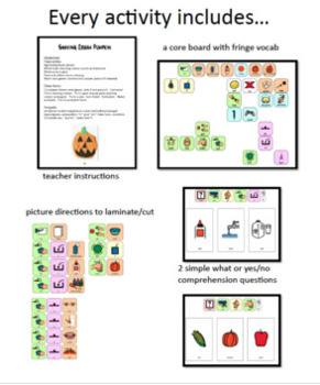 A Year of Core: Activity Based Instruction Lessons - FALL Bundle *SymbolStix*