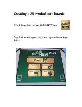 A Year of Core GoTalk NOW Lite AAC App for iPad: A Tutorial