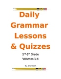 A Year of Daily Grammar & Writing Lessons W/ Quizzes  2nd, 3rd, 4th & 5th Grade
