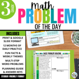 Daily Problem Solving for 3rd Grade: Yearlong Word Problem Bundle