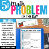 Daily Problem Solving for 5th Grade: Yearlong Word Problem Growing Bundle