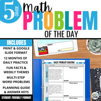 Daily Problem Solving for 5th Grade: Yearlong Word Problem Practice