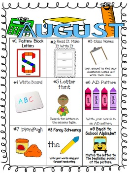 A Year of Differentiated Literacy Center Word Work Menus (August-May)