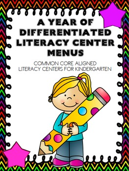 A Year of Differentiated Literacy Center Word Work Menus (