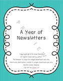 A Year of Editable Newsletters