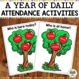 A Year of Editable Preschool Attendance Activities
